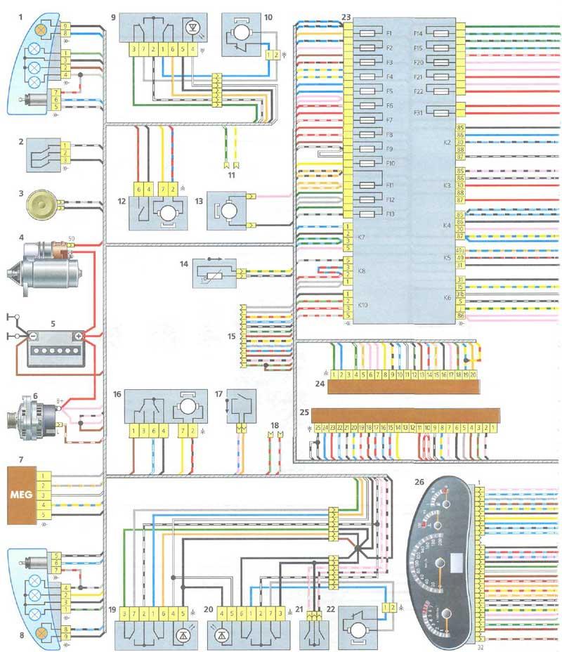 смотри электросхему ВАЗ